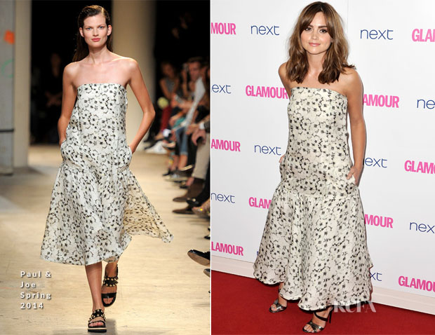 Jenna Coleman In Paul & Joe - Glamour Women Of The Year Awards