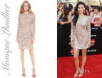 Jenna Dewan-Tatum's Monique Lhuillier Long Sleeve Dress