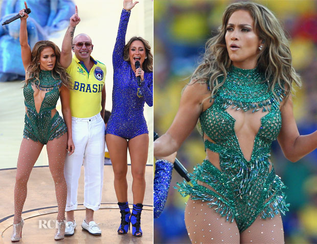 Jennifer Lopez In Charbel Zoe - World Cup Opening Ceremony