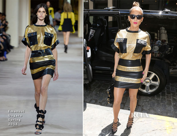 Jennifer Lopez In Emanuel Ungaro - Beats By Dr Dre Store Brunch