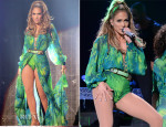 Jennifer Lopez In Versace, Versus & Atelier Versace - Neighborhood Sessions Bronx Concert