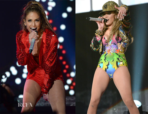 Jennifer Lopez In Versace, Versus & Atelier Versace - Neighborhood Sessions Bronx Concert 4