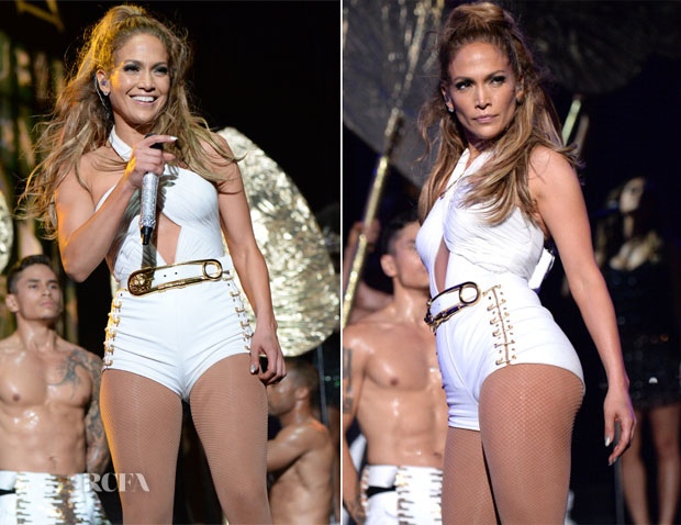 Jennifer Lopez In Versace, Versus & Atelier Versace - Neighborhood Sessions Bronx Concert2
