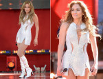 Jennifer Lopez In Versus Versace - 'Good Morning America' Performance