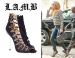 Jennifer Lopez' L.A.M.B. 'Falyn' Cut-Out Booties