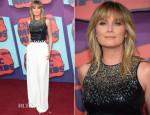 Jennifer Nettles In Halston Heritage, Max Mara & Katharine Kidd - 2014 CMT Music Awards