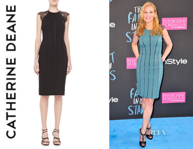 Jennifer Westfeldt's Catherine Deane 'Samara' Lace-Back Cocktail Dress