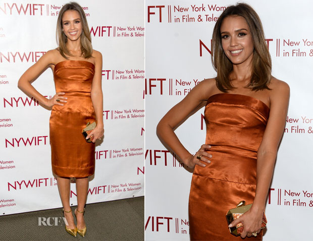 Jessica Alba In Vivienne Westwood - 2014 New York Women In Film And Television 'Designing Women' Awards Gala