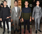 Joe Jonas Front Row @ Milan Fashion Week Mens Spring 2015