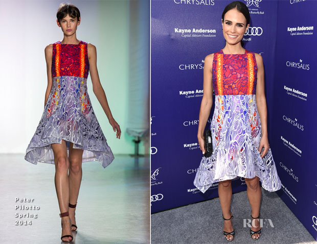 Jordana Brewster In Peter Pilotto - Chrysalis Butterfly Ball