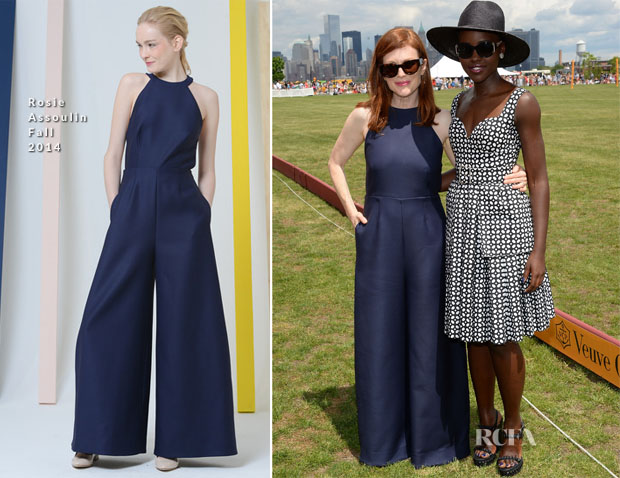 Julianne Moore In Rosie Assoulin - Veuve Clicquot Polo Classic 2014
