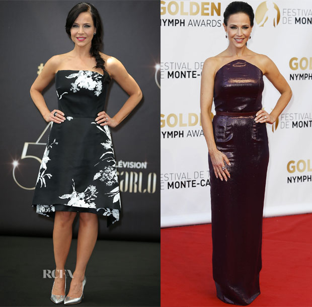 Julie Benz In Elena Reva & Rhea Costa - 54th Monte Carlo TV Festival 2
