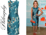 Julie Bowen's Philosophy Floral-Jacquard Pencil Dress