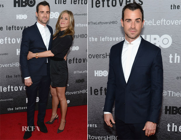 Justin Theroux In Dior Homme and Jennifer Aniston - 'The Leftovers' New York Premiere