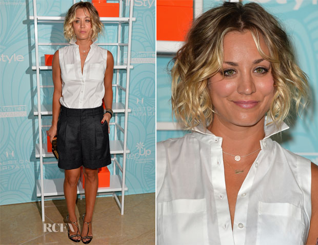 Kaley Cuoco In Ann Taylor & Theonne - Step Up 11th Annual Inspiration Awards