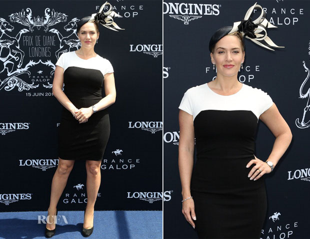 Kate Winslet In Narciso Rodriguez - Prix de Diane Longines 2014