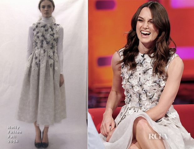 Keira Knightley In Holly Fulton - The Graham Norton Show