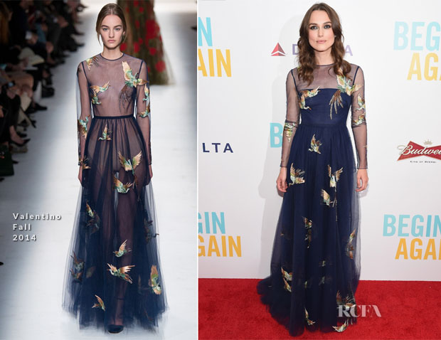 Keira Knightley In Valentino - 'Begin Again' New York Premiere