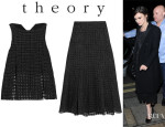 Keira Knightley's Theory 'Banel' Wool-Blend Top And Theory 'Swind' Wool-Blend Maxi Skirt