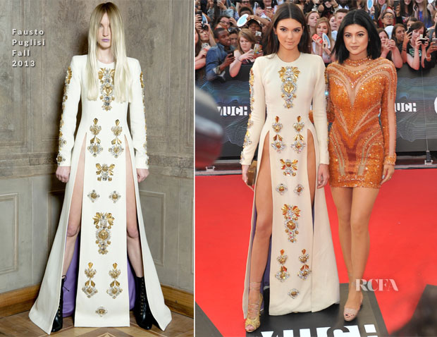 Kendall Jenner In Fausto Puglisi and Kylie Jenner - 2014 MuchMusic Video Awards