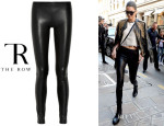 Kendall Jenner's The Row 'Moto' Stretch-Leather Pants