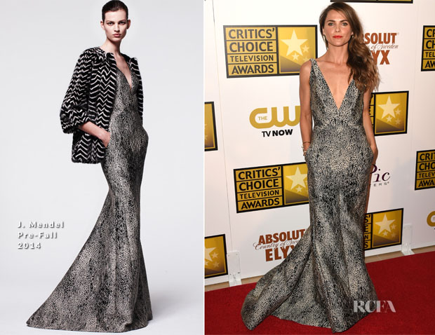Keri Russell In J Mendel - 2014 Critics' Choice Television Awards