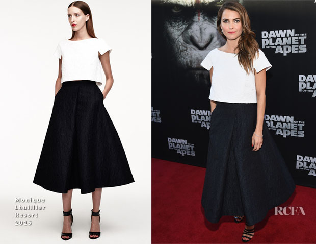 Keri Russell In Monique Lhuillier - 'Dawn Of The Planet Of The Apes' LA Premiere