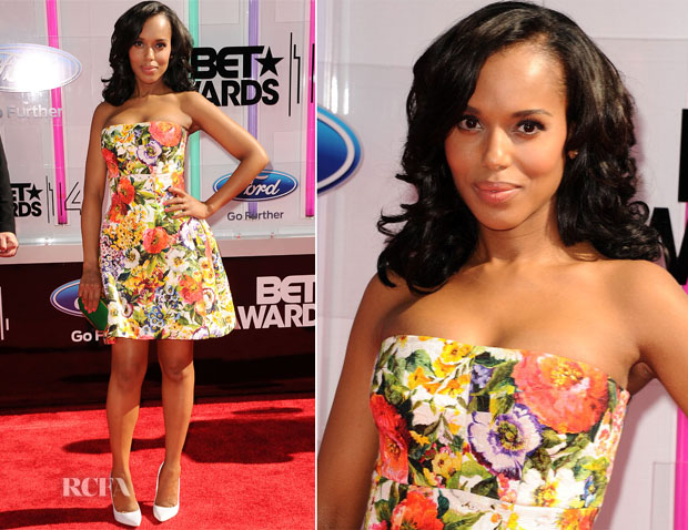 Kerry Washington In Dolce & Gabbana - 2014 BET Awards