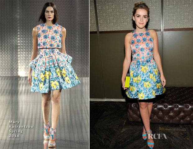 Kiernan Shipka In Mary Katrantzou - InStyle Hosts A Cocktail Party To Welcome Eric Wilson