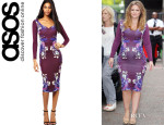 Kimberley Walsh's ASOS Sweetheart Body-Conscious Dress