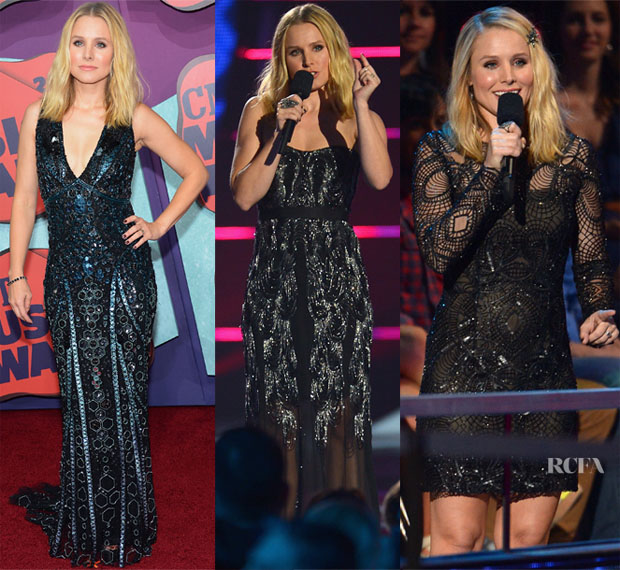 Kristen Bell In Zuhair Murad & Monique Lhuillier - 2014 CMT Music Awards2