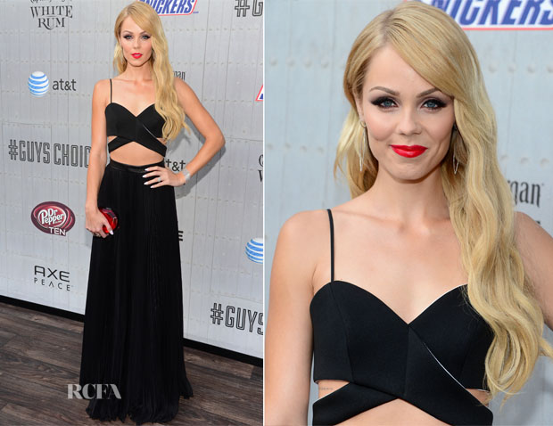 Laura Vandervoort In ASOS & Pamella Roland - Spike TV's 'Guys Choice 2014'