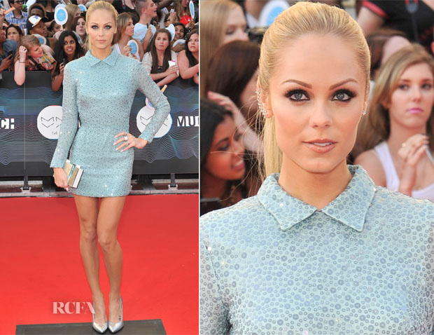 Laura Vandervoort In The 2nd Skin Co - 2014 MuchMusic Video Awards