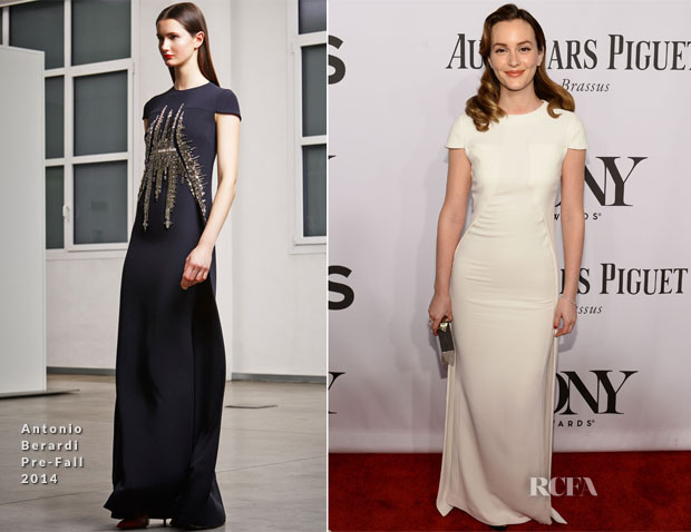 Leighton Meester In Antonio Berardi - 2014 Tony Awards