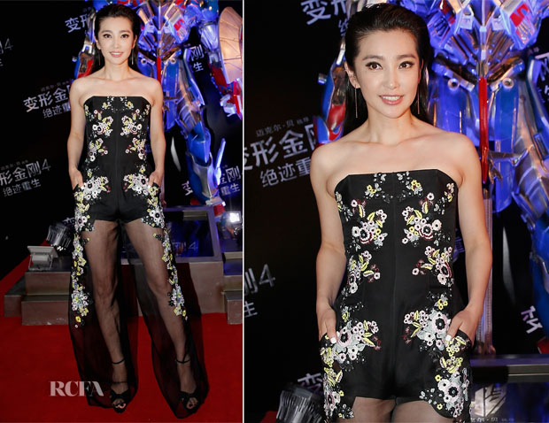 Li Bingbing In Erdem - 'Transformers Age of Extinction' Beijing Premiere
