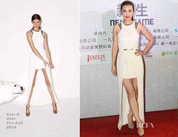 Li Bingbing In Sass & Bide - 'Transformers  Age Of Extinction' Shanghai Premiere
