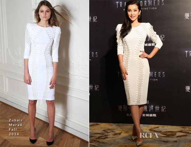 Li Bingbing In Zuhair Murad - 'Transformers Age of Extinction' Hong Kong Photocall