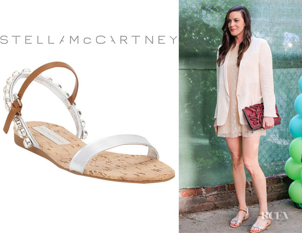 Liv Tyler's Stella McCartney Jeweled Slingback Flat Sandals