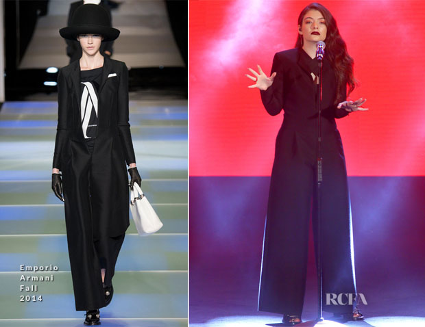Lorde In Emporio Armani - 2014 Music Awards
