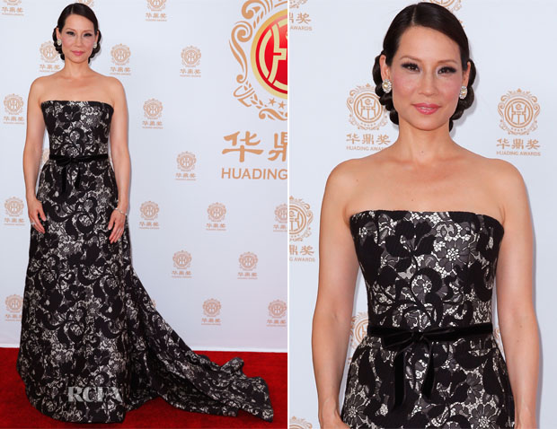 Lucy Liu In Carolina Herrera – 2014 Huading Film Awards