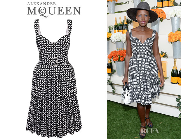 Lupita Nyong'o's Alexander McQueen Bi-Colour Pleat Dress