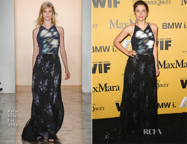 Maggie Gyllenhaal In Peter Som - Women In Film 2014 Crystal + Lucy Awards