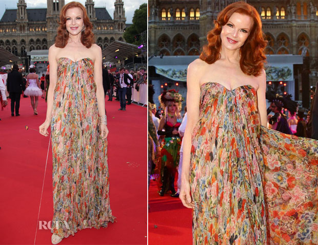Marcia Cross In Alexander McQueen - Life Ball 2014