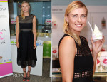 Maria Sharapova In Self-Portrait - Pinkberry Launch Sugarpova Pinkberry Topping At Selfridges