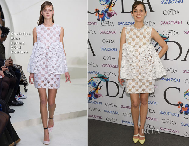 Marion Cotillard In Christian Dior Couture - 2014 CFDA Fashion Awards