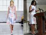 Michelle Obama In Tanya Taylor - Naturalization Ceremony