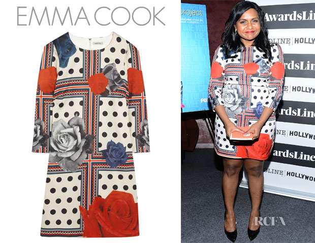 Mindy Kaling's Emma Cook 'Joanie' Printed Satin Mini Dress