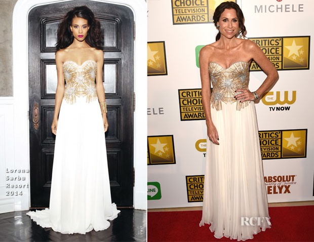 Minnie Driver In Lorena Sarbu - 2014 Critics' Choice Television Awards