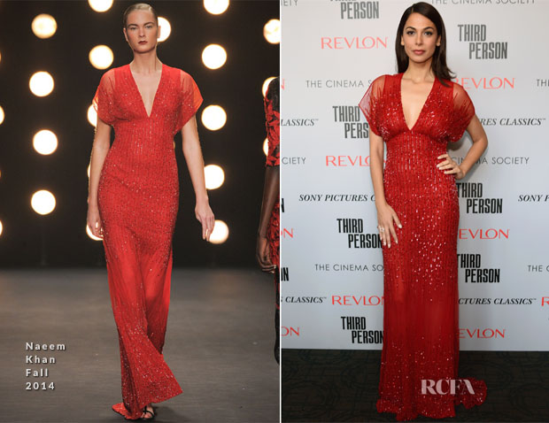 Moran Atias In Naeem Khan - 'Third Person' New York Screening