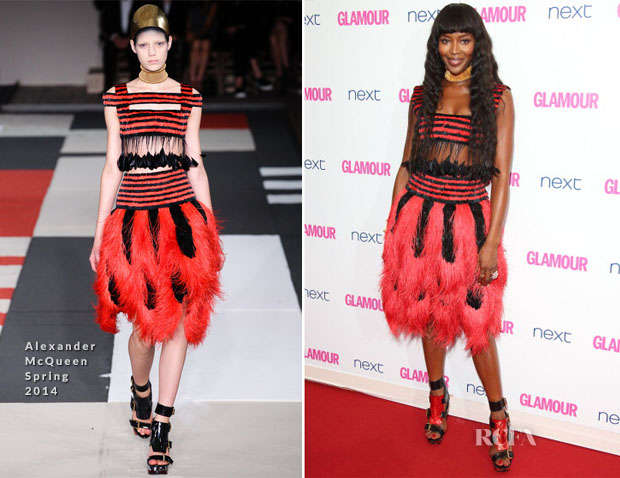 Naomi Campbell In Alexander McQueen - Glamour Women Of The Year Awards